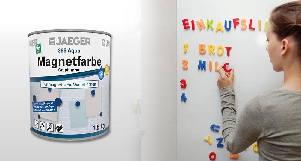 magnetfarbe f r magnetische wandfl chen magnetwand jaeger. Black Bedroom Furniture Sets. Home Design Ideas