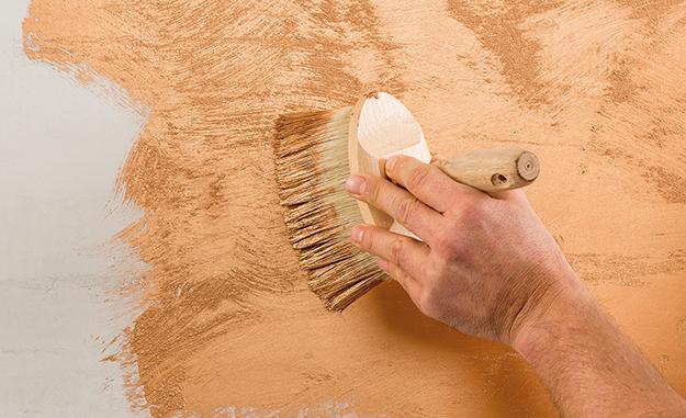 Kupfer Wandfarbe metallic effekt wandfarbe in gold silber und kupfer jaeger